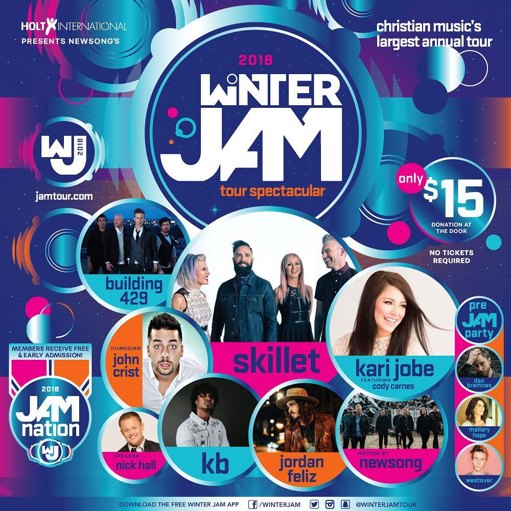 Winter Jam 2018 East Coast Lineup Announced & Dates, Locations